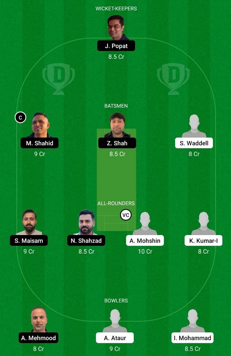 MD vs MAL Dream11 Team