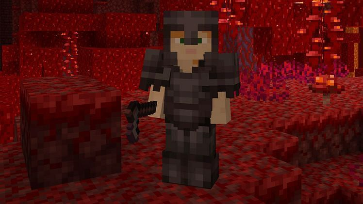 Players can create different kinds of weapons in Minecraft using Netherite (Image via Minecraft)