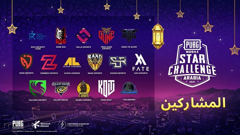 The PUBG Mobile Star Challenge Arabia 2021 has been announced