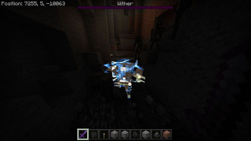 When the wither is defeated it will hover in the air and it will detonate after a few seconds.