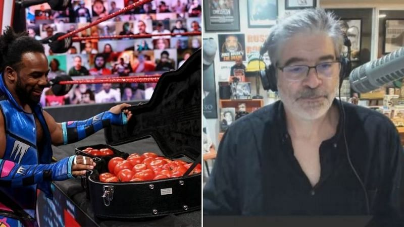 Vince Russo (R) did not enjoy last night