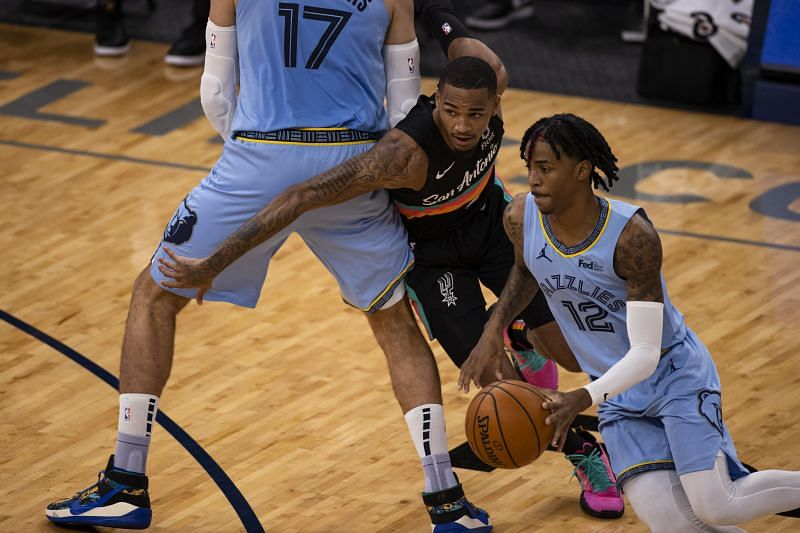 JA Morant in action in the NBA for the Memphis Grizzlies