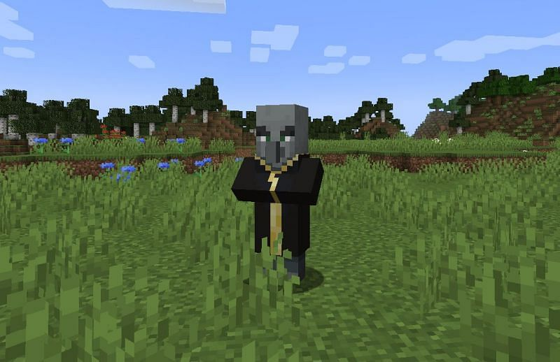 Shown: An Evoker just chilling (Image via Minecraft)