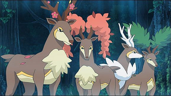 Sawsbuck in the anime (Image via The Pokemon Company)