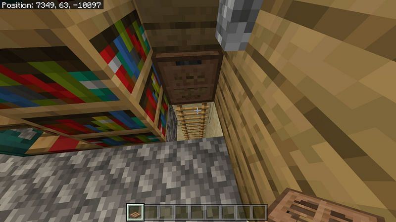 Trapdoors are commonly used as a way to prevent players from accidentally falling down through a hole built for ladders.