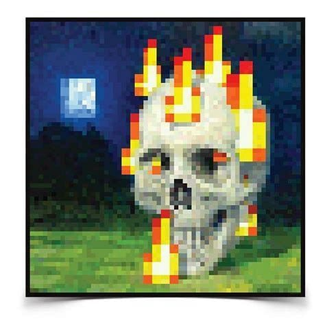 Skull Minecraft painting (Image via mc-mod)