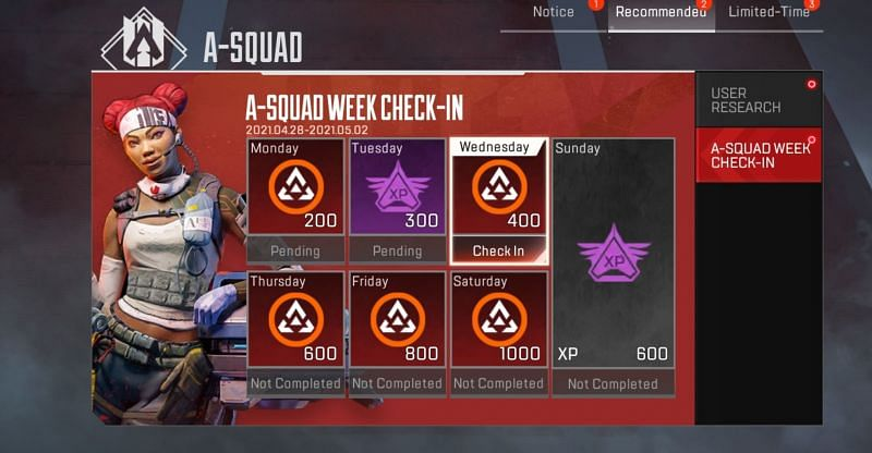 Apex Legends Mobile: Currency, Weekly login rewards, limited-time challenges (Image via Respawn Entertainement)