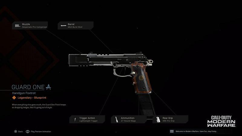 The Renetti as seen in COD Modern Warfare (Image via Activision)