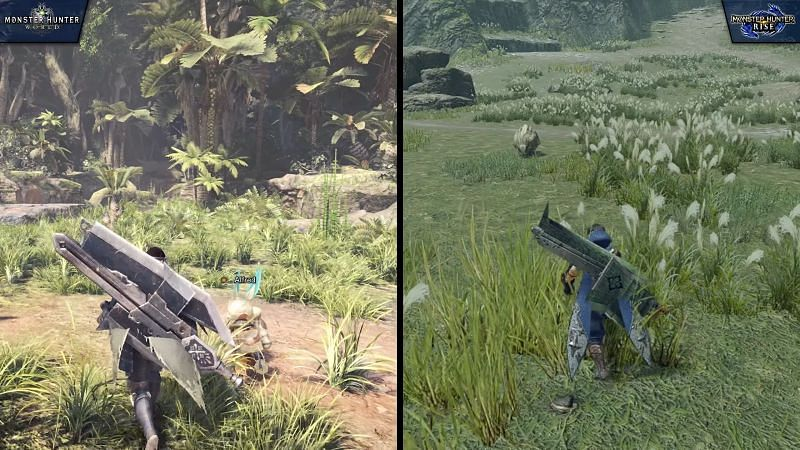Level Design in MH World vs Rise (Image from Nick930 )