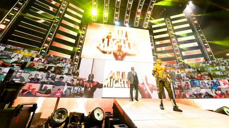 Bobby Lashley making his grand entrance on RAW