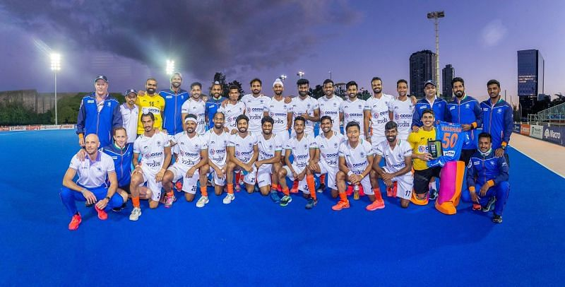 India players and support staff after their successful Argentina tour. (Source: HI)