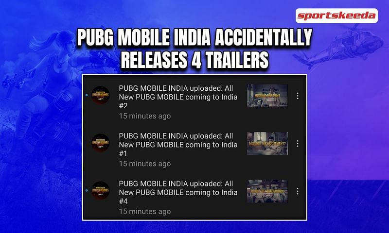 PUBG Mobile India had accidentally released 4 trailers on their YouTube channel. Image via Sportskeeda.