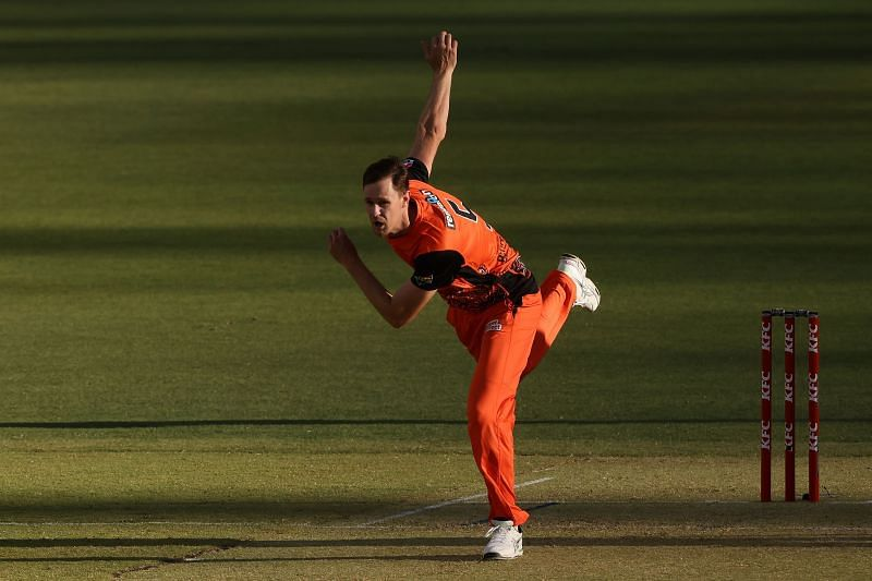 Jason Behrendorff plies his trade for the Perth Scorchers in the BBL.