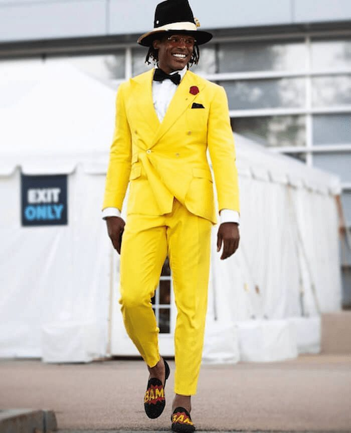 Cam Newton funky outfit