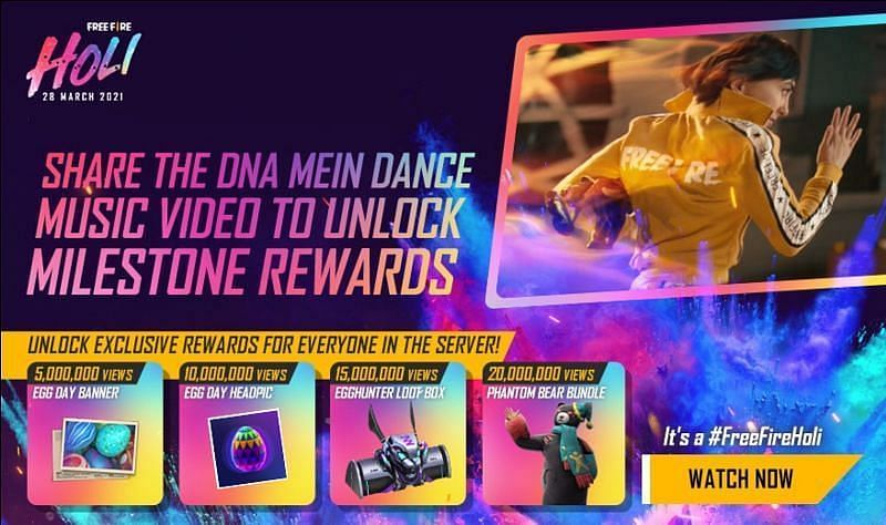 List of rewards from the redeem code for April 1st (Image via Free Fire)