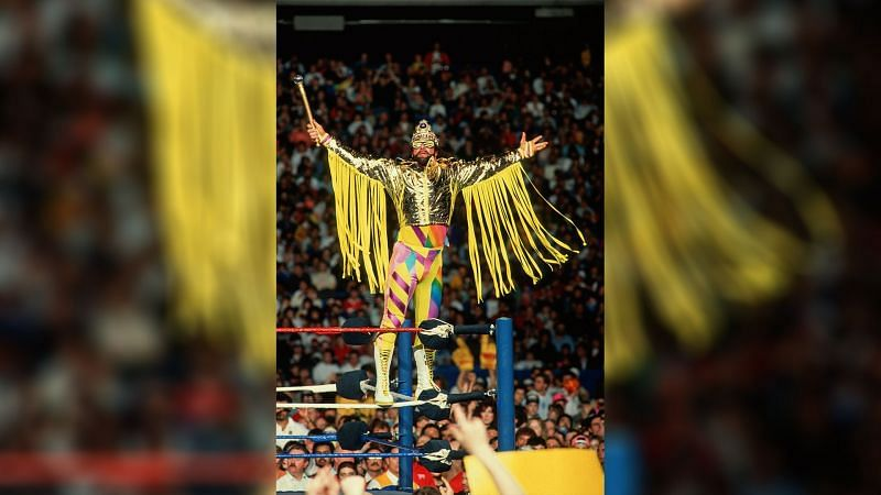 Randy Savage and Queen Sherri faced off against Dusty Rhodes and Sapphire at WrestleMania VI (Credit = WWE Network)