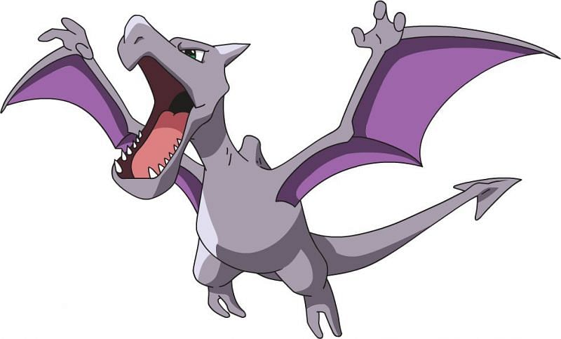 The first and most challenging Pokemon Cliff will send out, Aerodactyl (Image via The Pokemon Company)