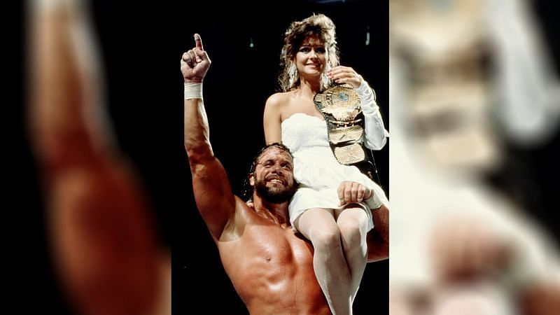 """""""Macho Man"""" Randy Savage won the WWE Championship for the first time at WrestleMania IV (Credit = WWE Network)"""