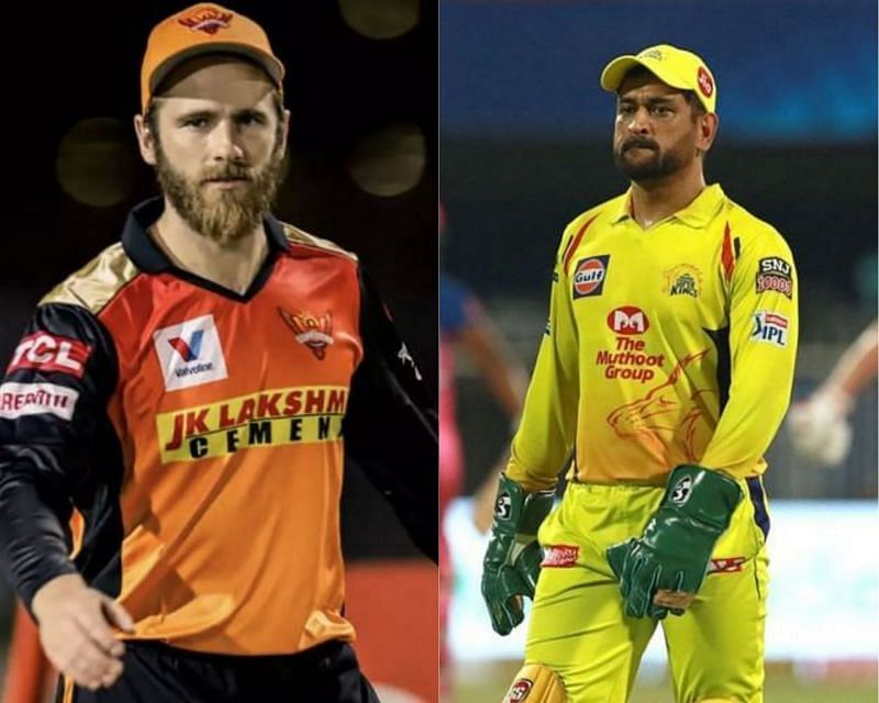 Kane Williamson (L) and MS Dhoni.