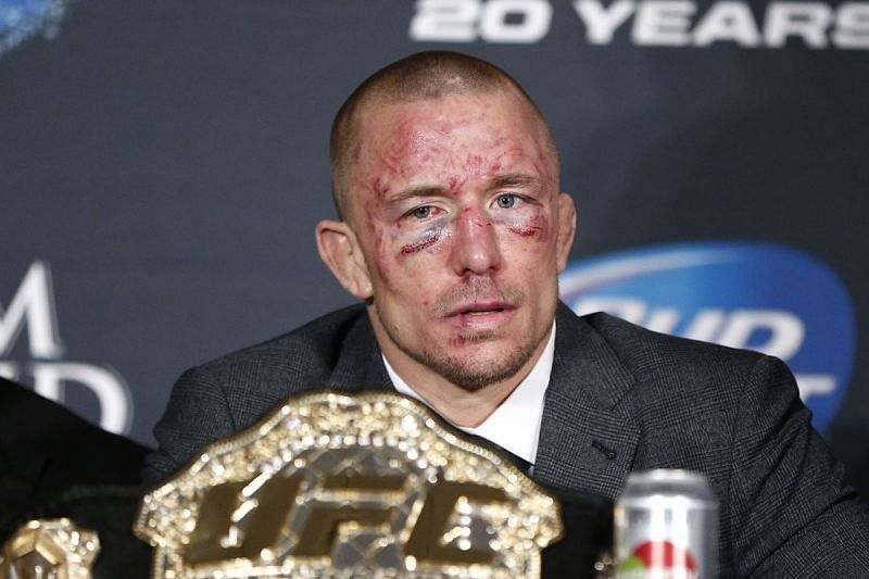 GSP after his battle with Johny Hendricks
