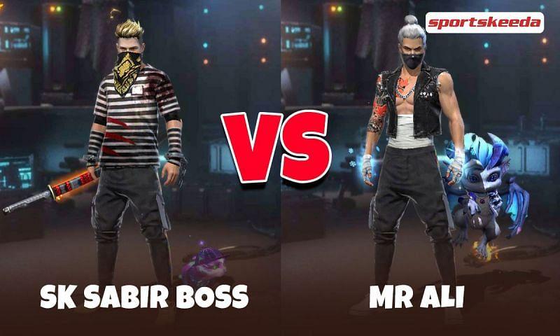 SK Sabir Boss and Mr Ali in Garena Free Fire