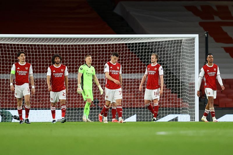 Arsenal were held to a 1-1 draw in the first leg of their UEFA Europa League quarter-final fixture against Slavia Prague
