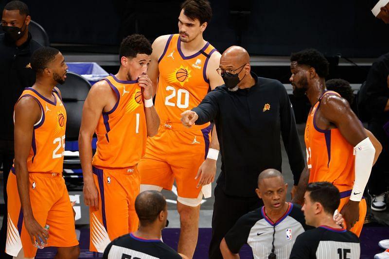 Phoenix Suns and their head coach Monty Williams