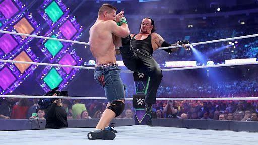 John Cena faced The Undertaker at WrestleMania 34 (Credit: WWE)