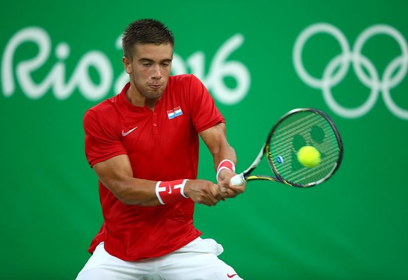 Borna Coric at the 2016 Olympic Games