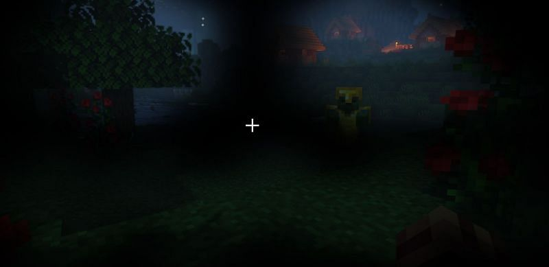 A player attempting to evade a heavily armored zombie in Minecraft (Image via Minecraft)