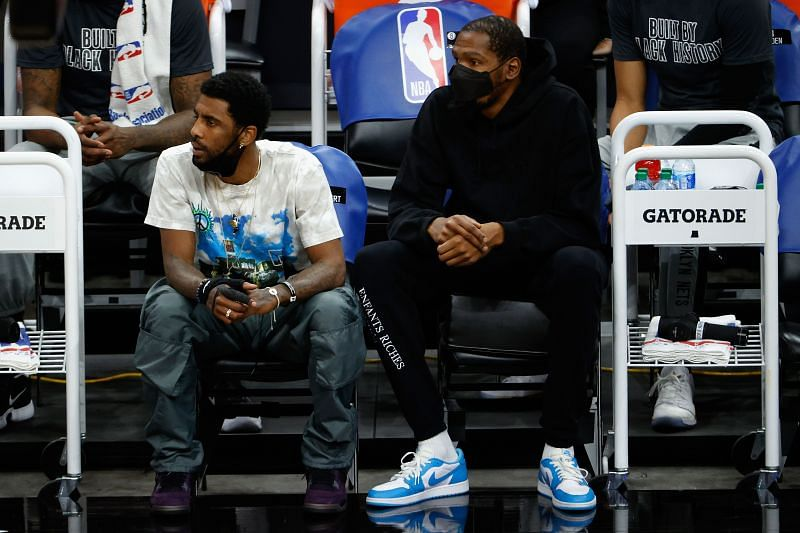 Kevin Durant and Kyrie Irving with the Brooklyn Nets