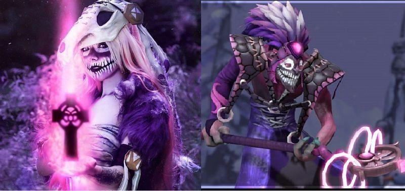 Left: Reddit user u/alicevernersuicide Right: Dazzle from Dota 2
