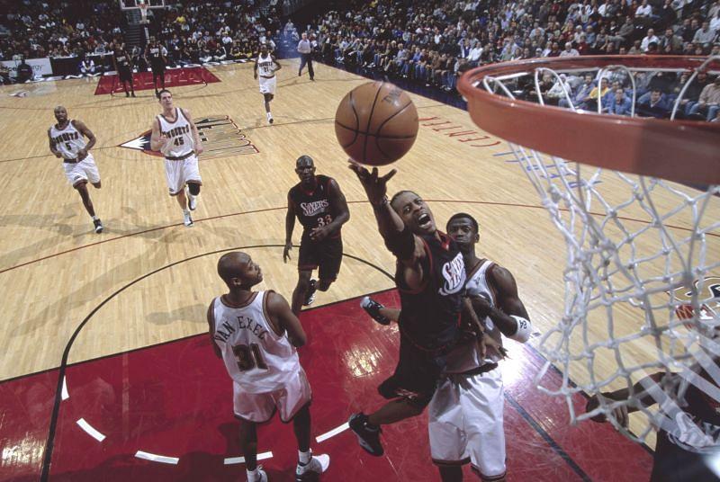 Allen Iverson of the Philadelphia 76ers.
