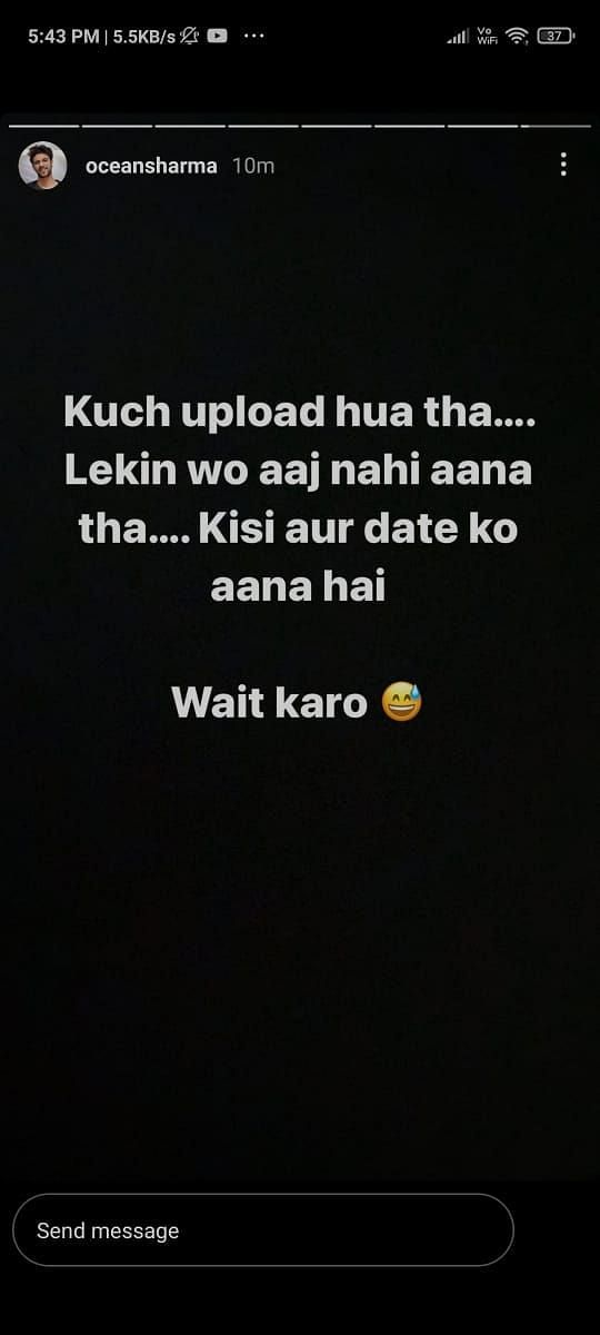 Credits - Ocean Sharma Instagram Story