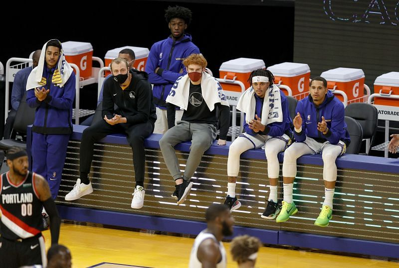 Golden State Warriors bench