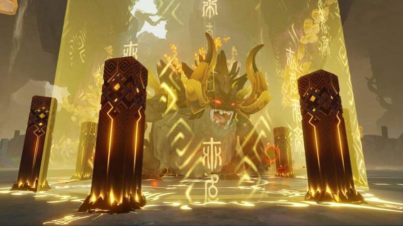 The new weekly boss, Azhdaha, is one of the biggest challenges so far. (image via Genshin Impact)