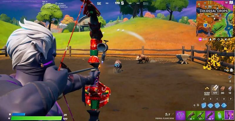 Where to find meat or pepper for Fortnite Week 7 Challenges (Image via Pure Game Guides - YouTube and Epic Games)