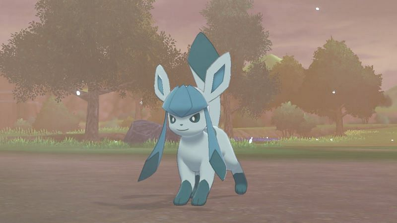 To easily catch Glaceon in Pokémon Sword and Shield, visit the Lake of Outrage near Hammerlocke while it is Snowing or having a Snowstorm and search the standing stone area at the top of the hill.