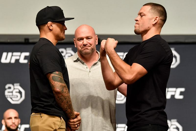 Dustin Poirier and Nate Diaz were scheduled to fight in 2018.
