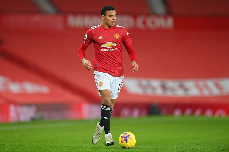 Mason Greenwood in action for Manchester United
