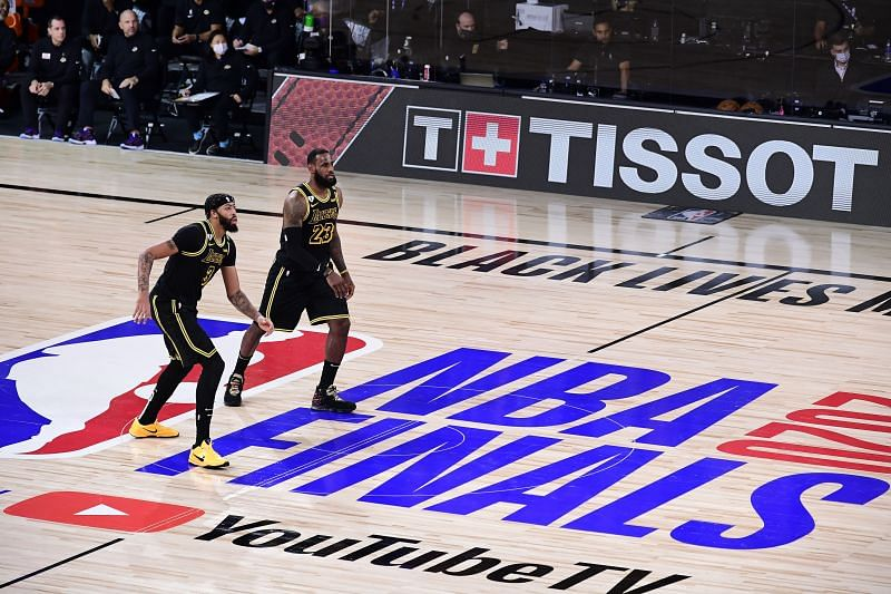 Superstar duo of LA Lakers LeBron James and Anthony Davis