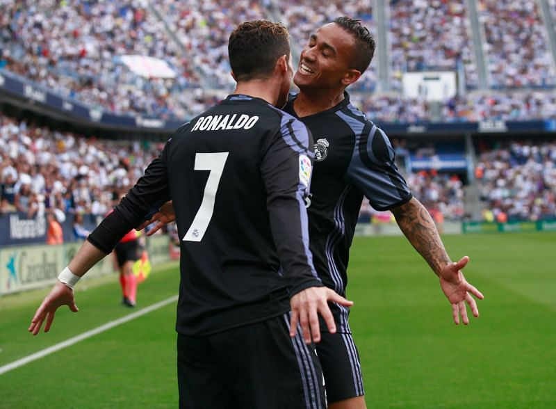 Danilo and Ronaldo were teammates at Real Madrid too. (Photo by Gonzalo Arroyo Moreno/Getty Images)