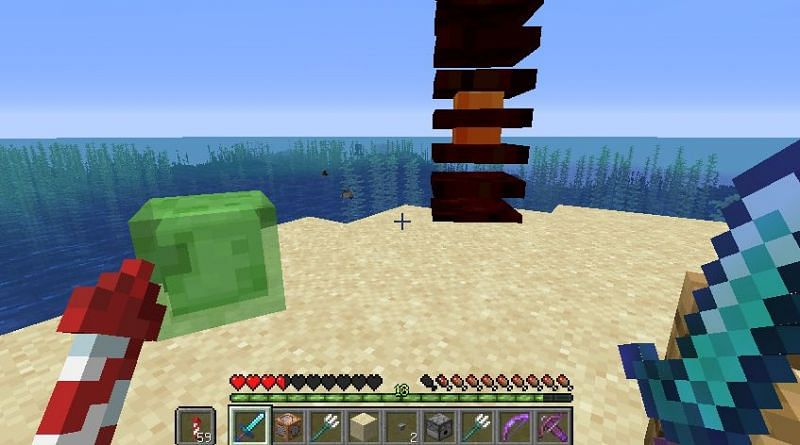 Fight against slime and magma cube (Image via bugs.mojang)