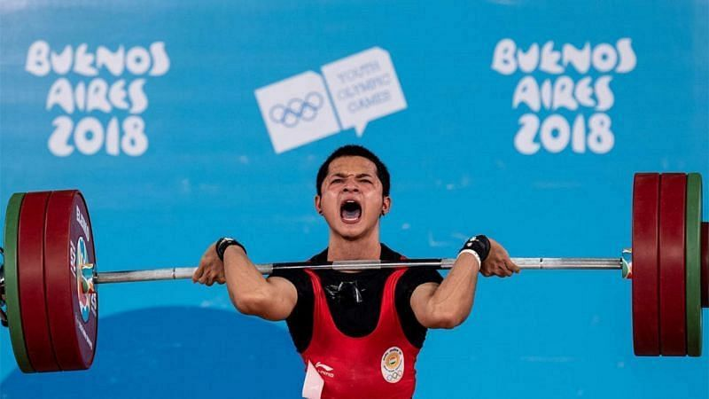 Jeremy Lalrinnunga put on a disappointing show at the Asian meet. (Source: Olympic Channel)