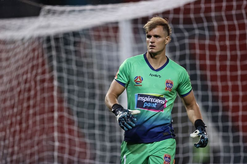 Lewis Italiano will be in goal for Newcastle Jets against Western United