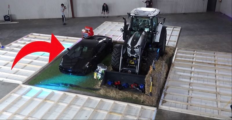 MrBeast unboxed a Lamborghini Gallardo and a Lamborghini tractor from the $250,000 mystery box