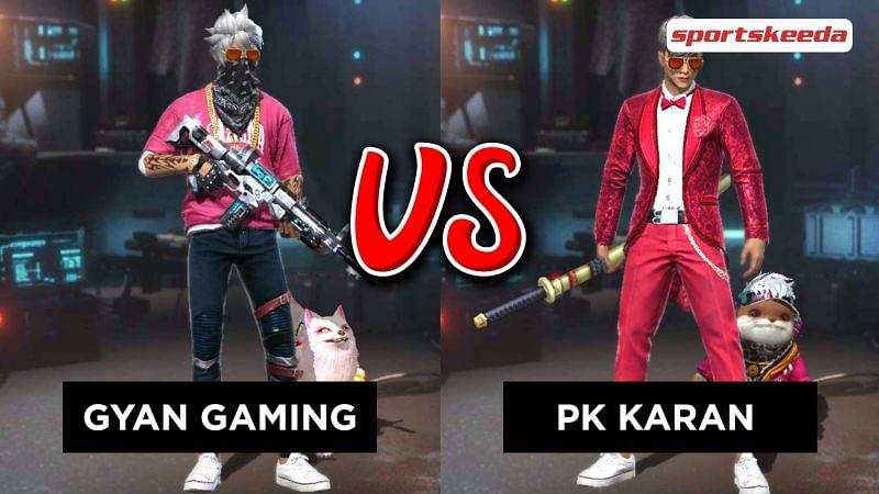 Garena Free Fire: Gyan Sujan (Gyan Gaming) vs PK Karan (P.K. Gamers)