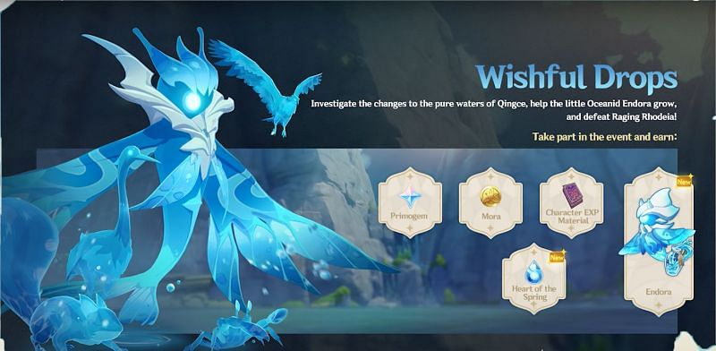Genshin Impact teased a sneak peek of the Wishful Drops Oceanid event as part of the 1.4 update last month (Image via Genshin Impact)