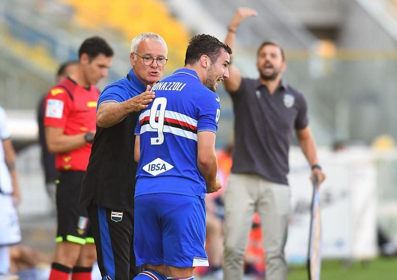 Sampdoria coach Claudio Ranieri