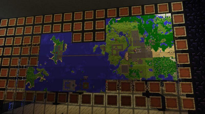 Minecraft map art (Image via gaming.stackexchange.com)